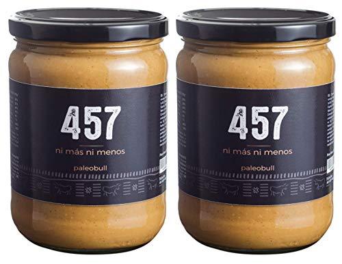 Crema de Cacahuete 100% Natural - Un Único Ingrediente - 457 Cacahuetes Triturados En Cada Tarro - Ni Más Ni Menos - Sin Azúcar Añadido, Sin Gluten y Sin Lactosa - Vegana - Pack 2x500g