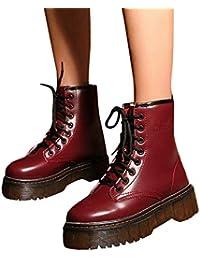 Botas de Invierno Mujer Retro, Moda a Prueba de Agua Mujeres Retro Zapatos