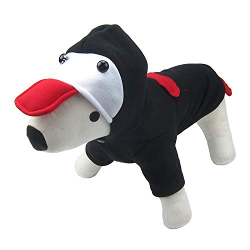 Alfie Pet by Petoga Couture Fellpflege-Nuru Kostüm für Kleine Hunde & Katzen-Farbe: schwarz, Größe: S