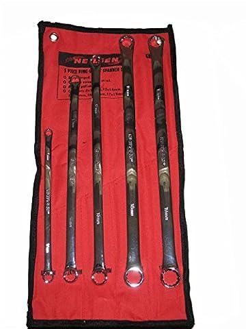5PC Extra long Chrome vanadium Clé polygonale Outil de garage atelier mécanique