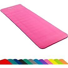 MOVIT - Esterilla para pilates - Sin ftalatos - Homologada por la SGS - Largo 190 cm x 60cm - Grosor 1,5 cm - rosa