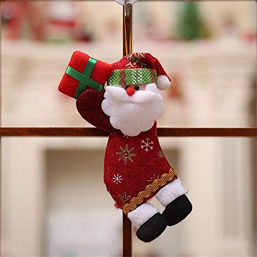 Shuangklei addobbi natalizi, regali di natale, pendenti con albero di natale, bambole da regalo per bambole, 10x18cm, 4pcs, c
