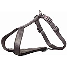 TRIXIE Dog - Premium Y Harness, M: 50-60 cm/20 mm, Graphite (Advent-03)