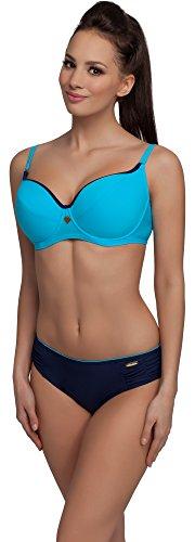 aQuarilla Damen Bikini Set R3N2LL1 (Blau/Navy, Cup 85 D/Unterteil 44)