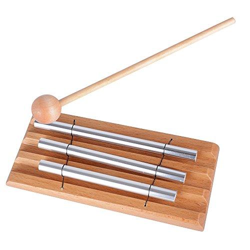 Energy Chime mit drei Klangstäben und einem Holzschlägel Hand Perkussion Schlaginstrument
