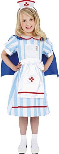 Smiffys Kinder Fancy Kleid Party Kids Fun Outfit Mädchen Vintage Krankenschwester Kostüm