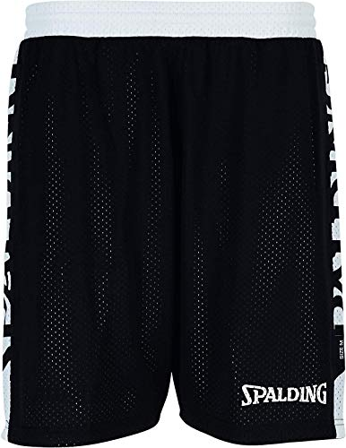 Spalding Damen Essential Reversible Shorts 4HER Hose, Schwarz/Weiß, S