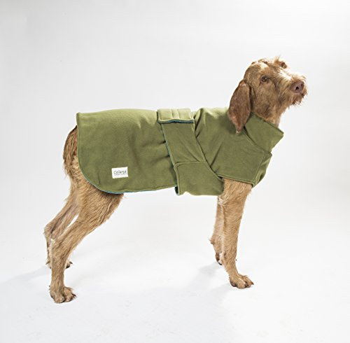 Collared Creatures Dog Drying Coat, Towling-Microfiber Lined Fleece Jacket Geen (available sizes XS, S, M, L, XL, XXL… 3