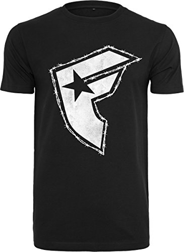 Famous Stars and Straps Herren Barbed Tee T-Shirt, Black, L (Barbed Tee)