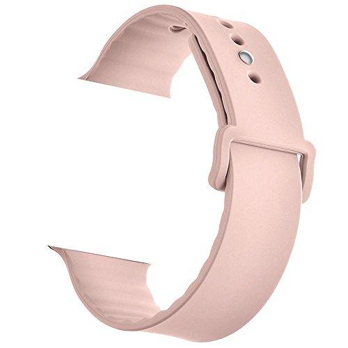 Kobwa banda para Apple reloj 42mm/38mm, suave silicona Sport correa de repuesto para Apple Watch Nike +, Series 2, Series 1, Sport, Edition iWatch