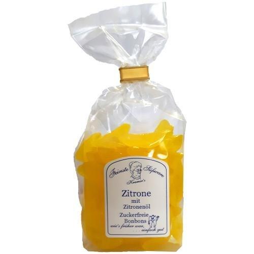 Zuckerfreie Zitronen Bonbons mit Zitronenöl, 120g (Bonbons Zuckerfrei)