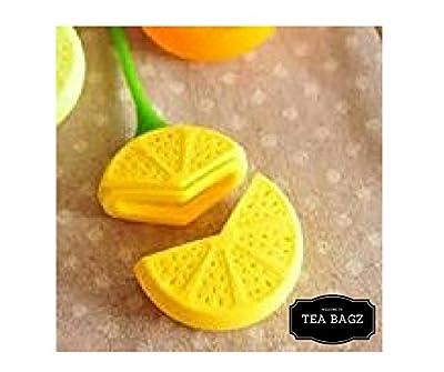 TEA-BAGZ/ Lot de 2 Infuseurs de Thé en forme de Citron / Idéal pour une infusion Bio/Tisane/Thé vert,/ Thé noir/ Accessoires Home et Cuisine/ Diffuseur à Thé Original/ Diffuseur à Thé de Haute Qualité / Diffuseur de thé 100% silicone/ Infuseur à Thé en si