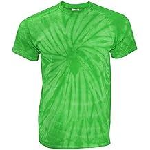 TDUK - Camiseta psicodélica modelo espiral de manga corta para hombre 100% Algodón- Verano Hippie