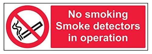 vsafety 57007bj-s No Smoking. Rauchmelder in Operation VERBOTSZEICHEN, selbstklebend, Landschaft,...
