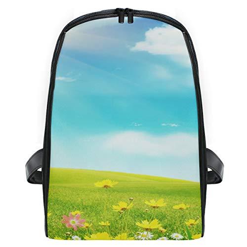 Mini Rucksack Daypack Natur Himmel Wiese Blumen Wolken Rucksack Tasche Leichtgewicht für Mädchen Jungen 340 Explorer