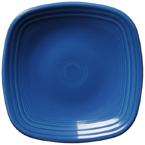 Fiesta Square Luncheon Plate, 9-1/8-Inch, Lapis by Homer Laughlin Fiesta Blue Plate