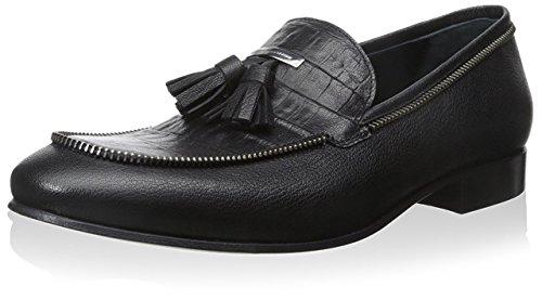 alessandro-dellacqua-mens-tassel-loafer-black-445-m-eu-115-m-us