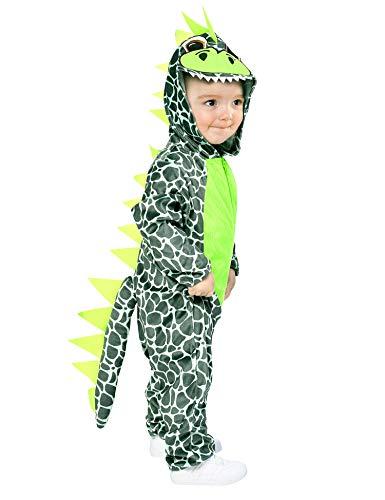IKALI Dinosaurier Kostüm für Baby, Kinder Hooded Drachen Strampler Overall, Tier One-Size-Pyjama 6-12 (Baby Drache Dinosaurier Kostüm)