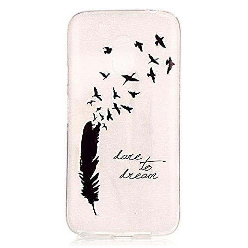 Voguecase® Per Apple iPhone 5 5G 5S, Custodia Silicone Morbido Flessibile TPU Custodia Case Cover Protettivo Skin Caso (Nero - be happy 03) Con Stilo Penna piuma nera 04