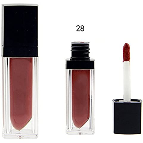 12colores 12opciones duradero brillo de labios pintalabios impermeable líquido Barra de labios mate–1pieza