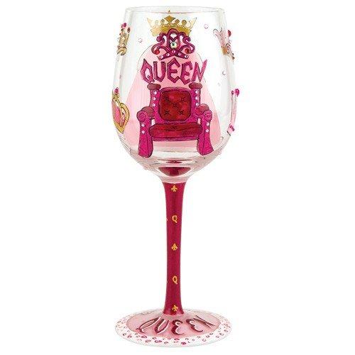 Santa Barbara Designstudio GLS11-5526R Lolita Love My Wein handbemalte Glasscheiben, Motiv Queen