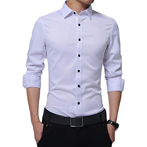 Irypulse Camisa Hombres Corte Cuello Camisa Planchado
