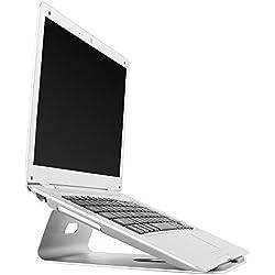 RICOO Support réhausseur ordinateur portable PC MTS-01 pour table de bureau avec pupitre pose moniteur ecran plat 4K OLED TV écran stand de tablette tactile Design aluminium