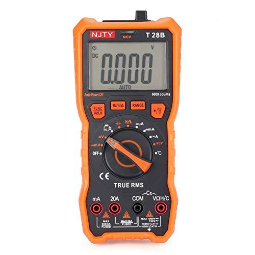 Mini Digital Multimeter, True RMS 6000 Counts DC/AC Spannungsstrom Meter Ammeter Ohm Diode NCV Tester Multitester