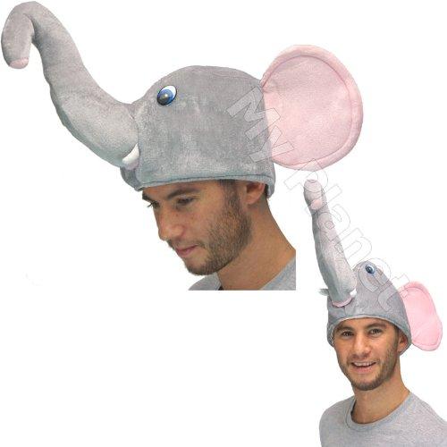 Nelly The Elephant Dumbo Style Novelty Unisex Plush Fancy Dress Costume Gimmick Animal Hat