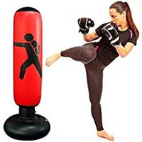 Dilwe Boxsack Boxen freistehend Boxsack aufblasbar Target St/änder Kick Training Tumbler Bop Tasche mit Volumenpumpe Pedal Pumpe