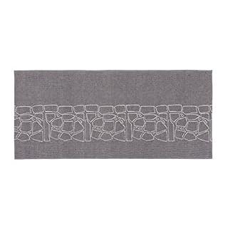 Sauna bath towel -Liuskeet- linen, black, 68x150 cm (Alajärven Kotitekstiili, Finland)