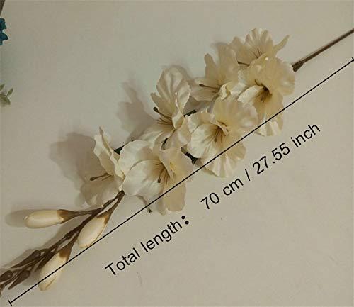 LFJIAH 70cm 7 Cabeza Flor de gladiolo Artificial Planta de orquídea de Seda Espada de otoño orquídea decoración Boda…