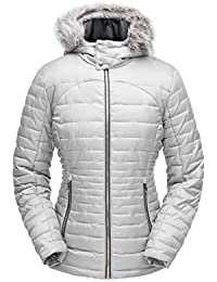 Spyder Edyn Hoody Insulated Chaleco, Mujer, Alloy, FR : M (Taille Fabricant