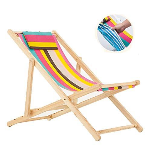 YULAN Freizeit Klapp Strandkorb Leinwand Outdoor Pool Lounge Outdoor Balkon Liegestuhl 100 * 53 * 61 cm
