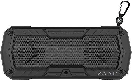 ZAAP Hydra Xtreme Premium Waterproof/Shockproof Bluetooth Speaker with Built-in Microphone (Black)