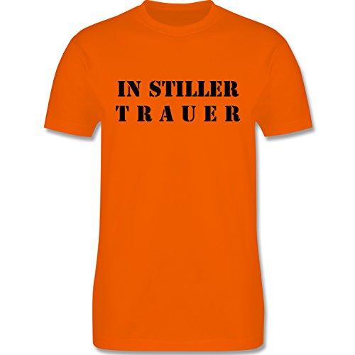 JGA Junggesellenabschied - In stiller Trauer - Herren Premium T-Shirt Orange