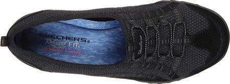 Skechers Breathe Easy Quick wit Women's slipper Slip on Bungee Memory Foam Blk