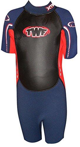 twf-kids-xt3-k11-shortie-wetsuit-navy-red-10-11-years