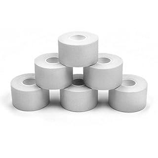 ALPIDEX 6 x Sports Tape 10 m x 2.5 cm Colour: white