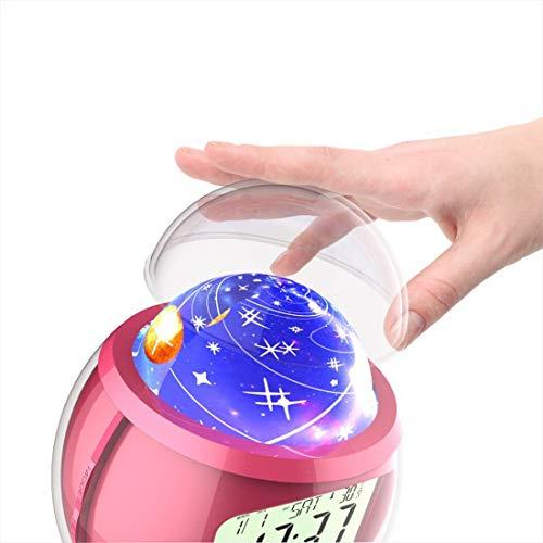 Olprkgdg Reloj Despertador Musical proyección Estrellas