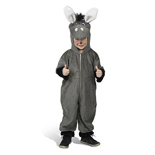 Esel Kostüm Kleinkind - Overall Esel Kostüm Gr. 92 für Babys und Kleinkinder - Tolles Tierkostüm für Karneval und Kindergeburtstag