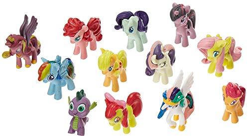 Oulensy Set von 12 Pony PVC-Spielzeug-Kuchen-Deckel Twilight Sparkle Figuren Set