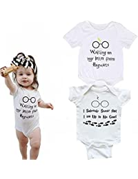 Tyoumay Baby Newborn Wizard Announcement Onesie Pregnancy Announcement to Family, New Parents