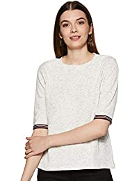 Miss Chase Women's White Basic Top
