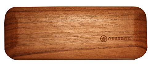 Designladen Brillenetui aus echtem Nuss Holz - Handarbeit