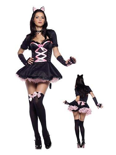 tty, Größe:XS;Farbe:Schwarz/Pink (Pretty Kitty Kostüm)