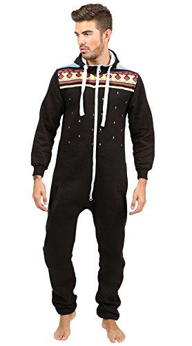 newfacelook-stilvoll-herren-gedruckt-onesie-hoody-alle-im-ein-zip-kapuzenpullover-mer-jumpsuit-large