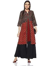 Amazon Brand - Myx Women's Cotton Layered Kurta