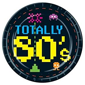 Totally 80s eighties theme party plates