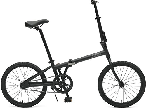 Critical Cycles Uni Judd Single-Speed with Coaster Brake Folding Bike, Matte Black, One Size
